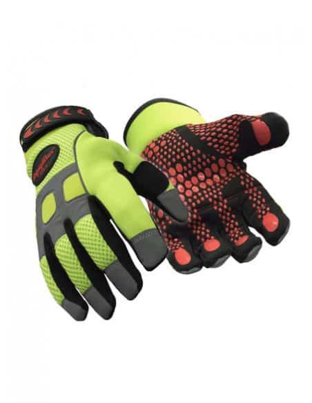 2 Gants Ultra Grip Haute Visibilité bi-matières Refrigiwear
