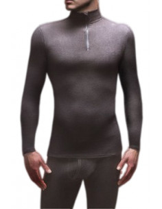 Maillot thermique zippé en Micropolaire Homme