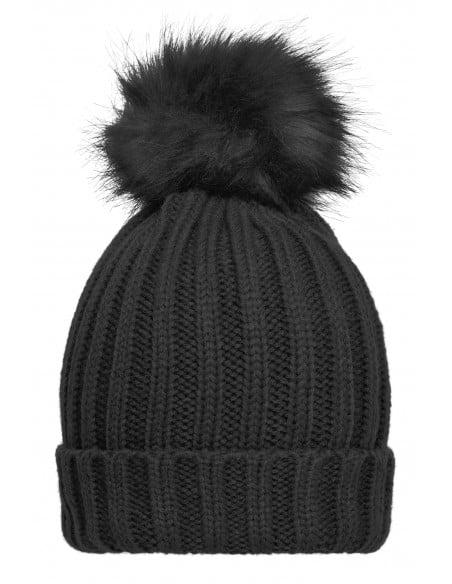 Bonnet grand froid en tricot femme