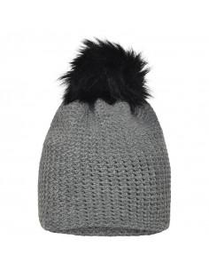 Bonnet hiver au crochet gris