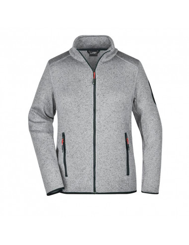 Ladies' Knitted Fleece Jacket with...