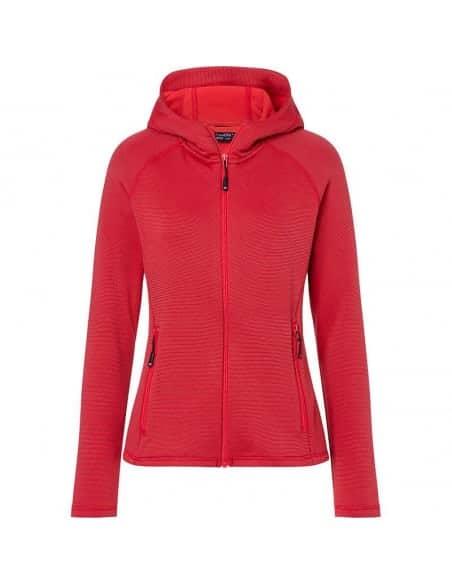 Veste polaire Trek rando à capuche femme rouge