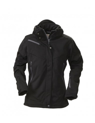Lined Softshell Winter Jacket with...