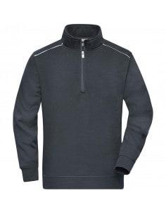 Sweatshirt mi-lourd intérieur molletonné gris