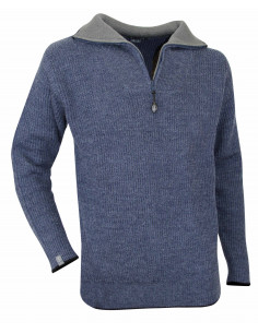 High collar jumper in wool