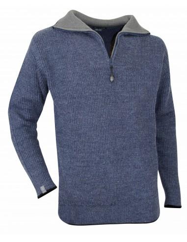 High collar jumper in wool