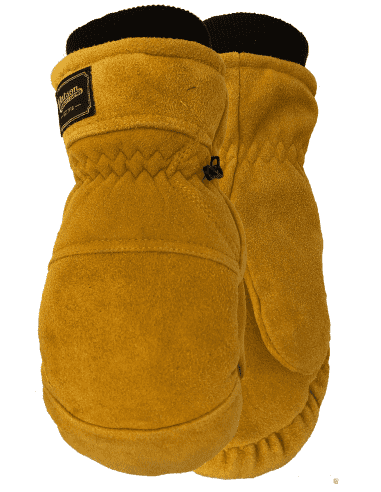 CANADIAN LEATHER MITTS CRAZY HORSE...