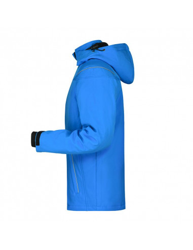 James/&nicholson Hommes Hiver Veste Softshell avec Capuche de Sport Ski Chaud