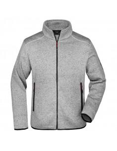 Men's Knitted Fleece Jacket...