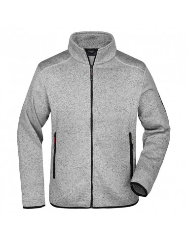 Men's Knitted Fleece Jacket with...