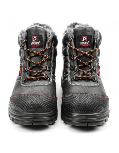 NATURAL LEATHER SAFETY SHOES PESSO...