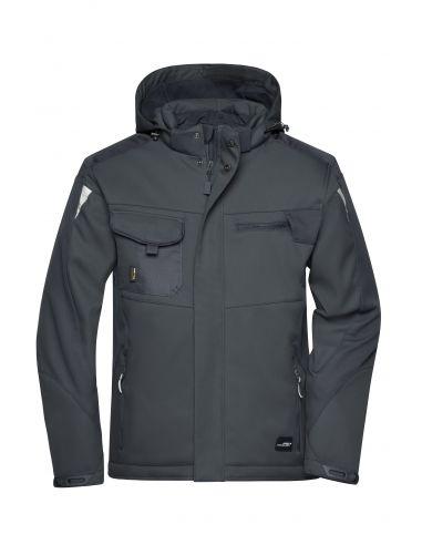 Thermal hooded softshell jacket unisex